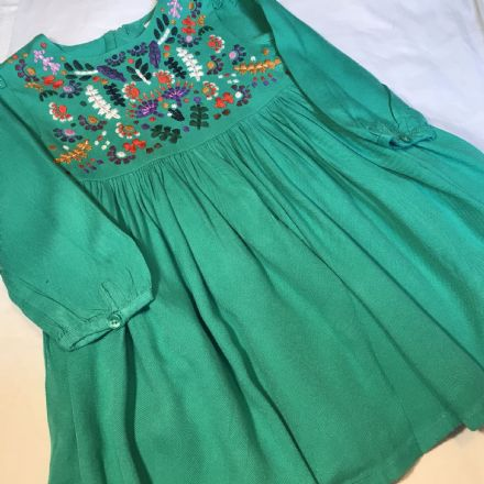 18-24 Month Green  Lined Dress